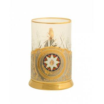 Подстаканник  герб азербайджана  златоуст