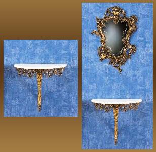 Консоль из бронзы virtus золото 49х54х27см 8010*
