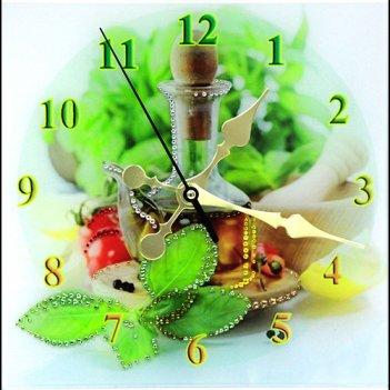 Картина сваровски - часы кухня
