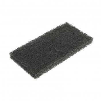 Губка-пад чёрная, жёсткая, нейлон, 25x12x2 см