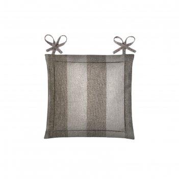 Подушка на стул, размер 40 x 40 см, рогожка, цвет зебра-шок