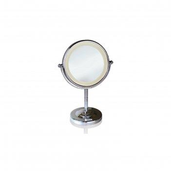 Зеркало косметическое babyliss 8437 е, 20 вт, d=17.8 см, от сети, с подсве
