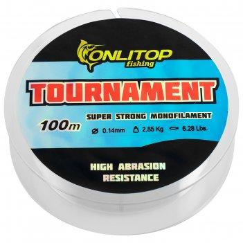 Леска капрон tournament d=0,1 мм, 100 м, 2,85 кг