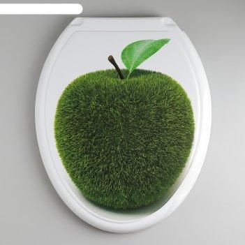Сиденье с крышкой для унитаза декор. яблоко, цвет белый