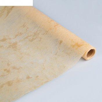 Фетр мрамор, ламинированный, персиковый, 60 см х 5 м