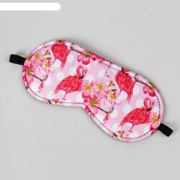 Маска для сна «фламинго» 19,5x 8,5 см, разноцветная