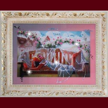 Картина сваровски - в саду