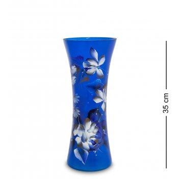 Vz-551 ваза стеклянная жостово h-400 (конус)