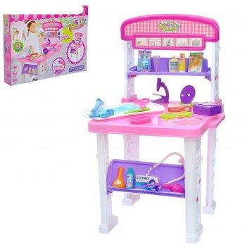 Игровой набор столик медсестры, 2 варианта сборки, 23 предмета, бонус - ак