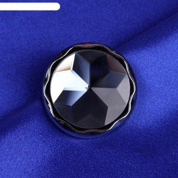Пуговица декоративная снежинка, d=30мм, 6шт, цвет чёрный, 472