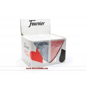 Карты для покера fournier premium 100% пластик (2818) 1 блок из 12 шт.