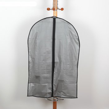 Чехол для одежды 59 х 89 см плотный peva, серый