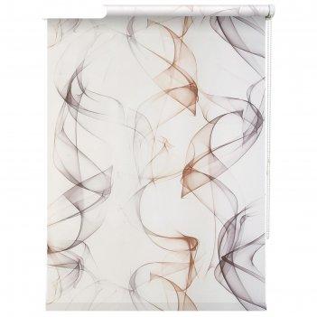 Рулонная штора «смоки», 70х175 см, цвет бежевый