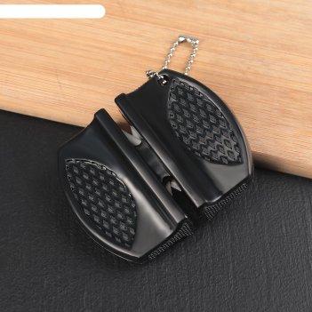 Заточка для ножей, с 2 отделениями для стальных и керамических ножей, микс