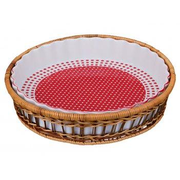 Блюдо для запекания на подставке диаметр=28 см.выс...