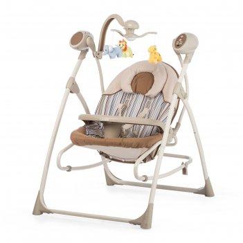 Колыбель-качели детские 3 в 1 carrello nanny crl-0005 beige stripe