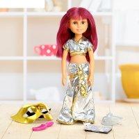 Кукла шарнирная, бал маскрад-клеопатра с аксессуарами