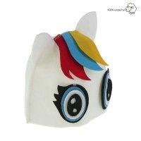 Банная шапка «радужная пони», фетр белый
