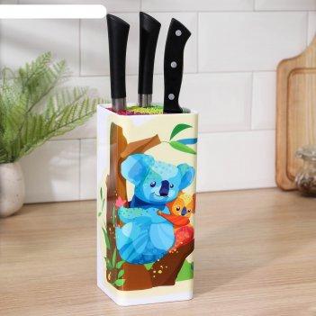 Подставка для ножей «коалы», 9x9x22,5 см