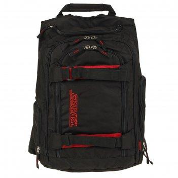 Рюкзак молодежный target 45*35*20 для мальчика carbon, чёрный/красный