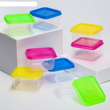 Набор контейнеров пищевых с крышками, для хранения детского питания, 8 шт.