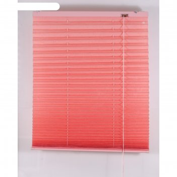 Штора-плиссе, размер 200х160 см, цвет розовый