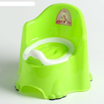Горшок детский антискользящий «комфорт» с крышкой, съёмная чаша, цвет сала