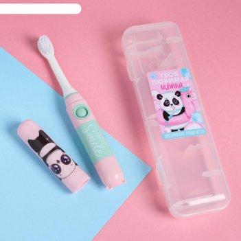 Электрическая зубная щетка «улыбайся», lp-005, 19,2 х 5,5 см