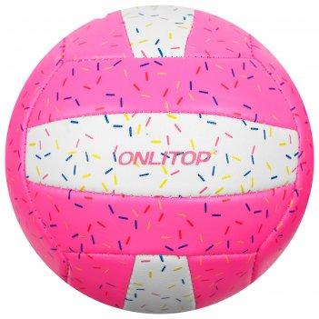 Мяч волейбольный onlitop пончик р.2, 150 гр, 2 подслоя, 18 панелей, pvc, к