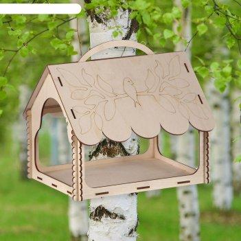 Кормушка для птиц птичка на рябине, 27x21x22 см