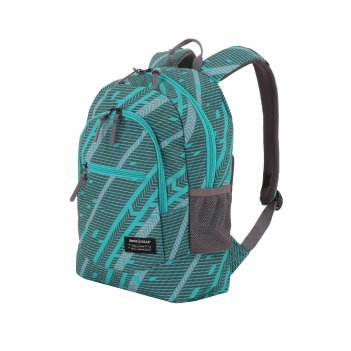 Рюкзак swissgear, голубой/серый, полиэстер 600d, 32х16х43 см, 22 л