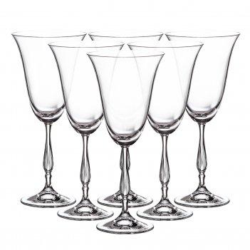 Набор бокалов для вина crystalite bohemia fregata/antik 350 мл (6 шт)
