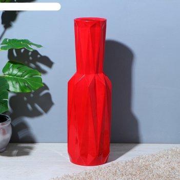 Ваза напольная оригами, красная