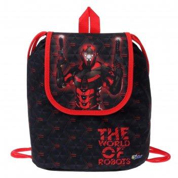 Мешок-рюкзак для обуви, с клапаном, 29 х 22 х 13.5 мм, «оникс», ср-04, «ро
