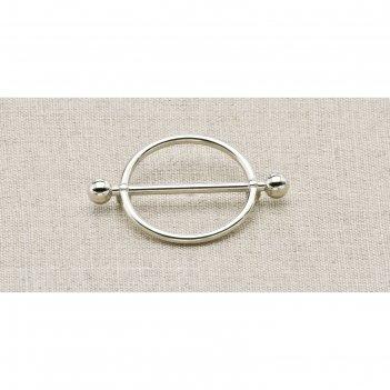 Пуговица металлическая, цвет никель (пм28)