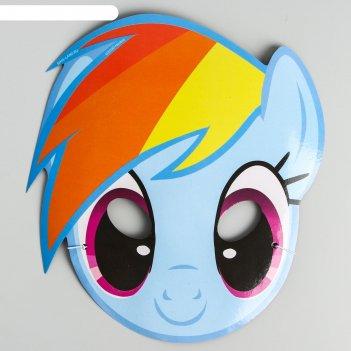 Маска карнавальная радуга, my little pony, 17,2 х 22 см