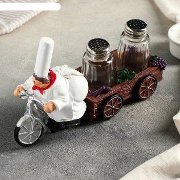 Набор для специй пекарь на велосипеде, 2 предмета