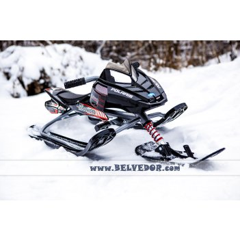 37003 снегокат snow moto polaris rush black dt