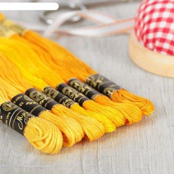 Набор цветик-семицветик 1 желтый лепесток нитки вышивальные мулине  ( набо