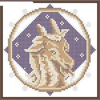 Основа для вышивания с нанесённым рисунком «козерог»