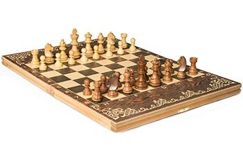 Шахматы классические малые деревянные (высота короля 3,00) 35х50см