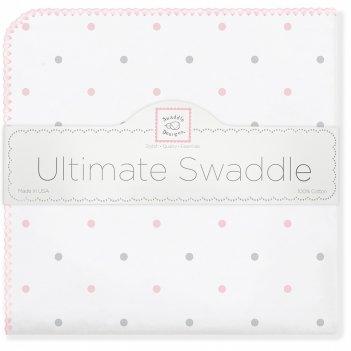 Фланелевая пеленка для новорожденного swaddledesigns pk/sterling lt dot