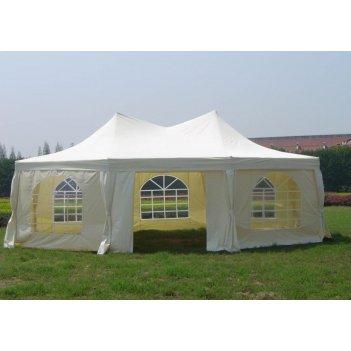 Тент шатер садовый green glade (2,5х2,5х2,5х2,5х3,4м, арт.1052, белый)
