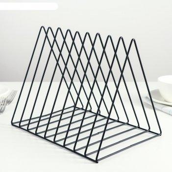 Подставка под разделочные доски лофт 26х18,2х20,3 см, цвет черный