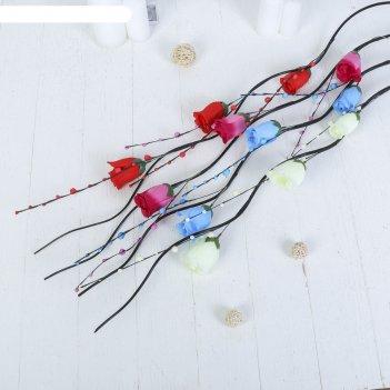 Декор тинги розы с шариками 150 см (фасовка 5 шт., цена за шт), микс