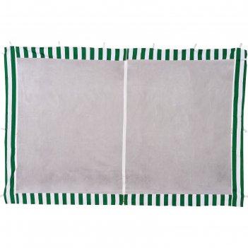 Стенка зеленая с москитной сеткой тента-шатра №4130