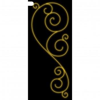 Светодиодная консоль золотой узор, 1 х 0.4 м, led-шнур 10 м, 30 вт, металл