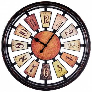 Часы настенные кварцевые рулетка диаметр=50 см диаметр циферблата=44 см цв
