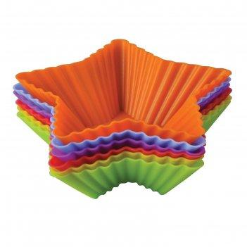 Набор форм для выпечки «тарталетки-звезды», 10х3,5 см