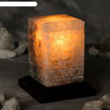 Соляная лампа зебра, 15,5 см